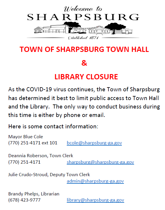 Town Hall and Library Closure